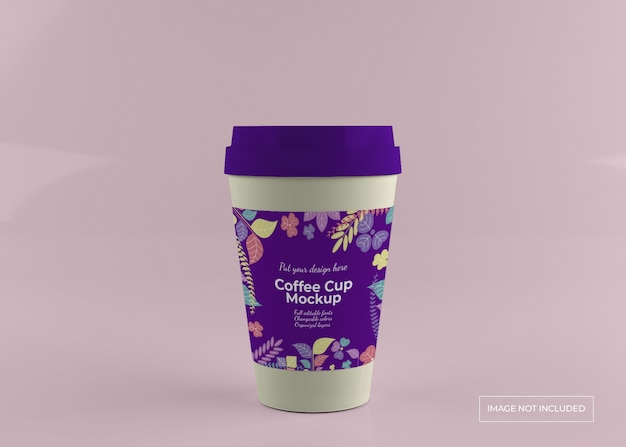 Porta via il mockup della tazza di caffè