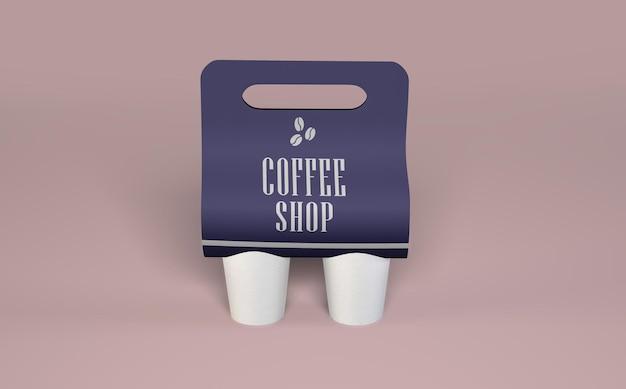Mockup di caffè da asporto