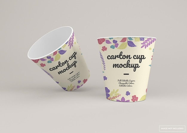 Porta via il mockup della tazza di cartone usa e getta