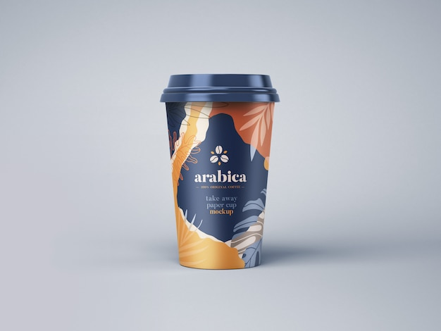 Take away paper coffee cup mockup