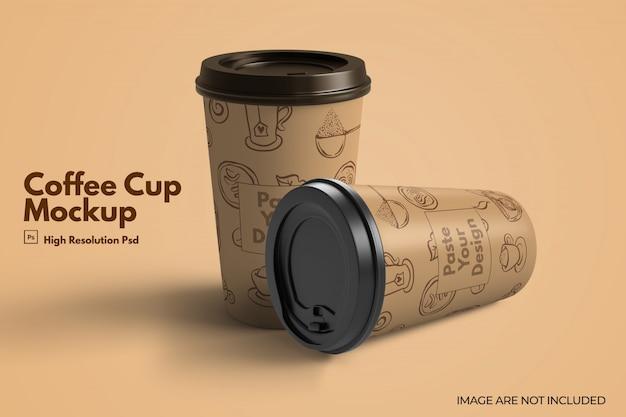 Porta via il mockup di tazza di caffè in carta