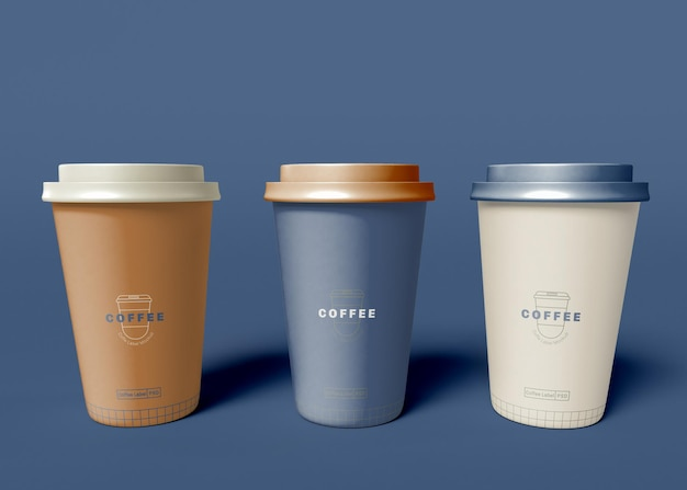 Mockup di tazza di caffè in carta da asporto