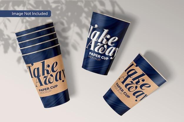 Take away paper cup mockup