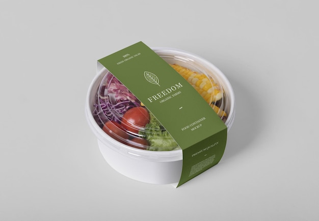 Mockup di contenitori per alimenti da asporto