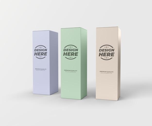 Mockup di pacchetto scatola alta