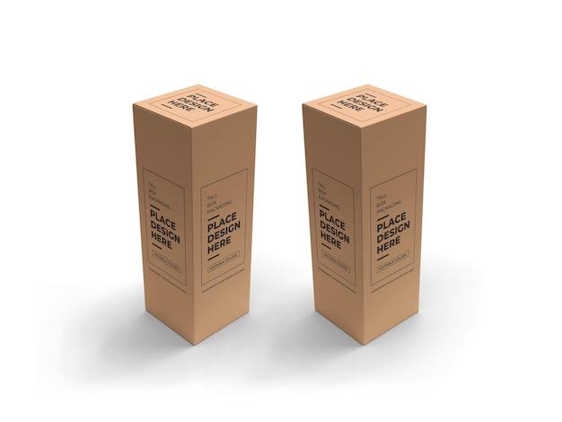 Design di mockup di imballaggio scatola alta