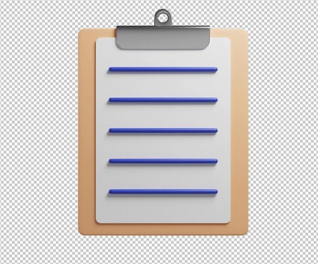 Rendering 3d dell'illustrazione dell'icona di attività