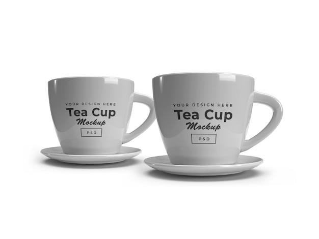 Mockup di tazza di tè isolato