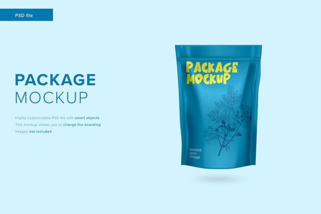 Mockup di pacchetto di tè in stile design moderno