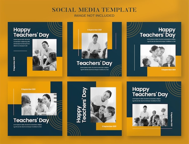Banner per i social media della giornata dell'insegnante e modello di post di instagram