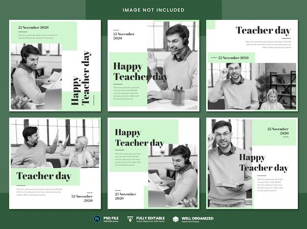 Modello di social media per la giornata dell'insegnante