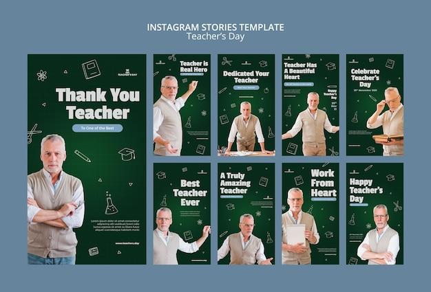 Set di storie instagram per il giorno dell'insegnante