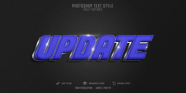 Aggiornamento tecnico 3d design modello effetto stile testo