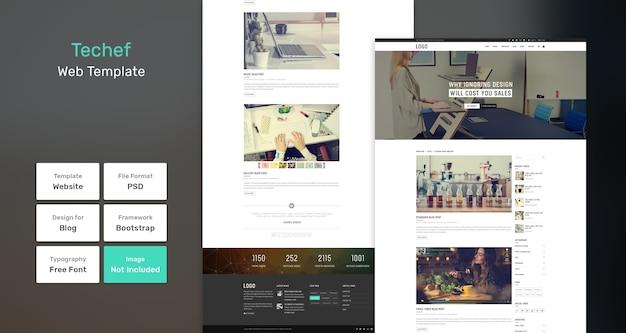 Modello web del blog techef