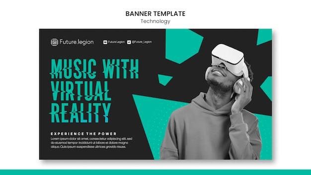 Design del modello di banner tecnologico