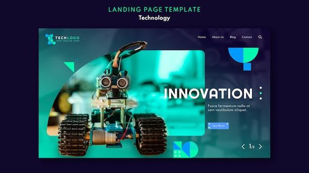 Modello di pagina di destinazione della tecnologia