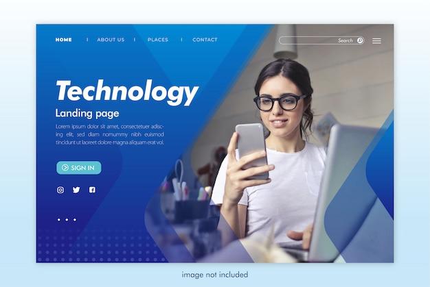 Modello di sito web tecnologia landing page