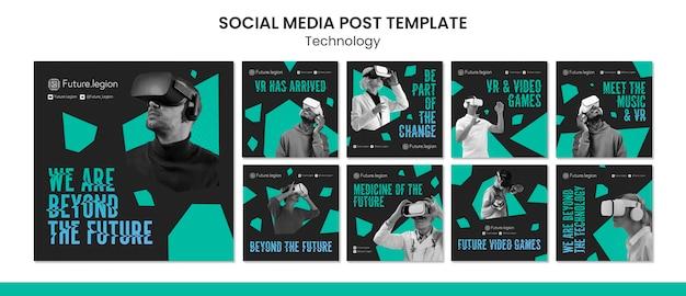 Progettazione di modelli di post sui social media tecnologici