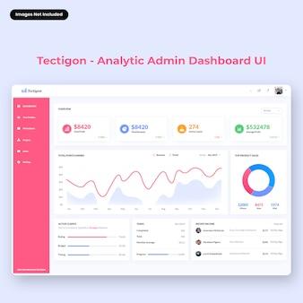 Interfaccia utente del dashboard di amministrazione di tectigon-analytic