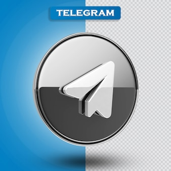 Rendering 3d icona telagramma moderno