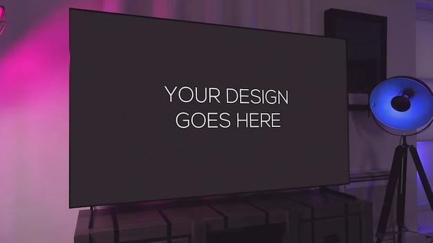 Mockup display televisivo Psd Premium