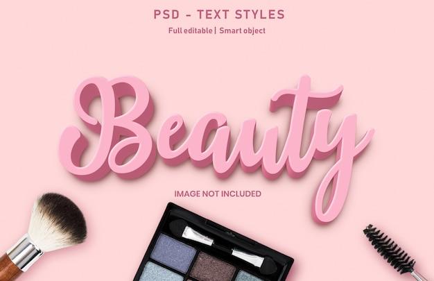 Modello di effetto del testo di bellezza