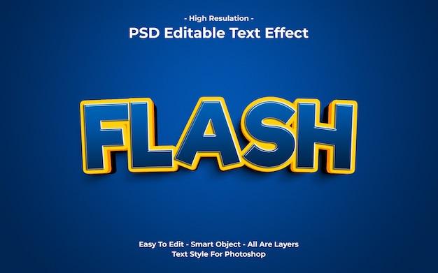 Modello di effetto testo flash
