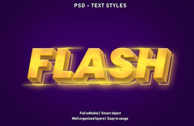 Modello di effetto di testo flash