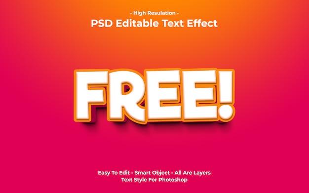 Modello di effetto testo libero