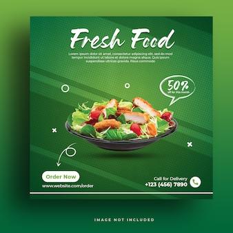 Modello per post di cibo fresco sui social media