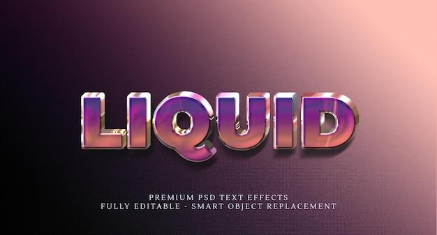 Modello di effetto stile testo liquido