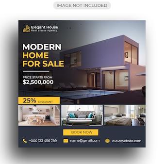 Modello per real estate per social media post