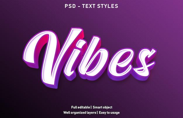 Modello di effetto di testo vibrazioni Psd Premium