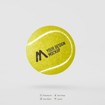 Pallina da tennis mockup design isolato
