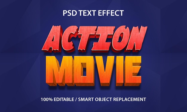 Film d'azione effetto testo premium