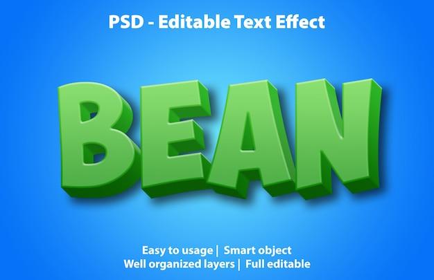 Modello di fagiolo effetto testo