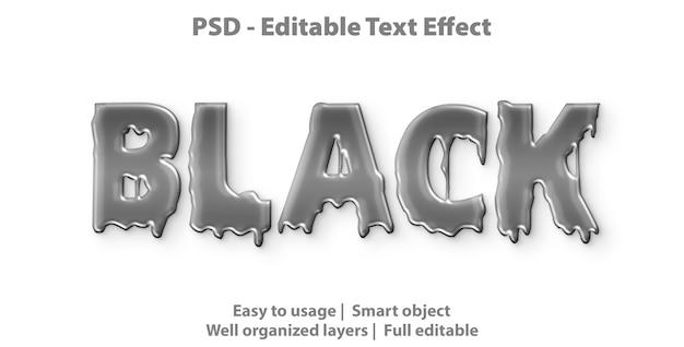 Modello di stile nero effetto testo