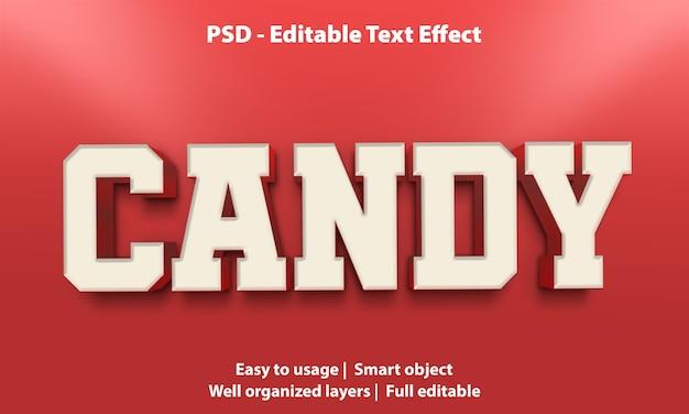 Modello di caramelle effetto testo
