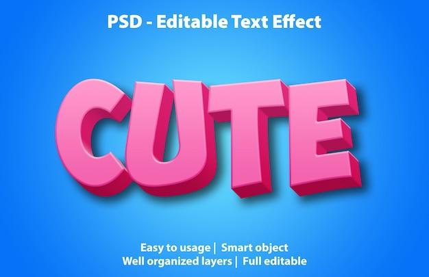 Modello carino effetto testo