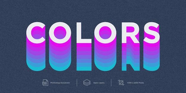 Stile di colori di design effetto testo