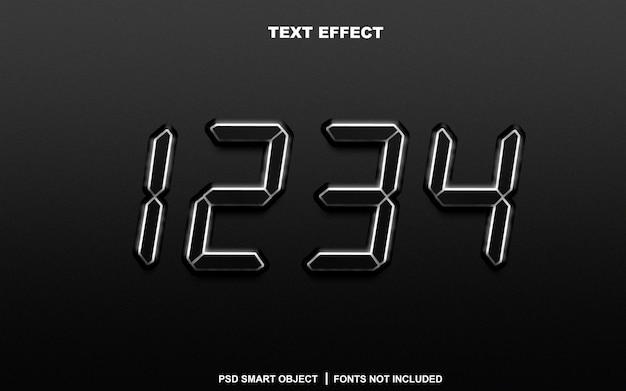 Effetto testo. oggetto intelligente modificabile
