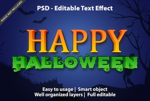 Modello di halloween felice effetto testo