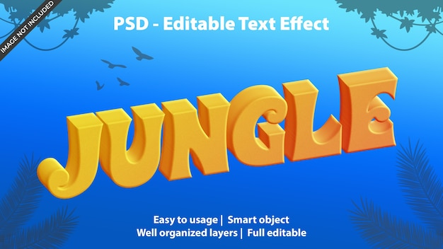 Modello giungla effetto testo Psd Premium