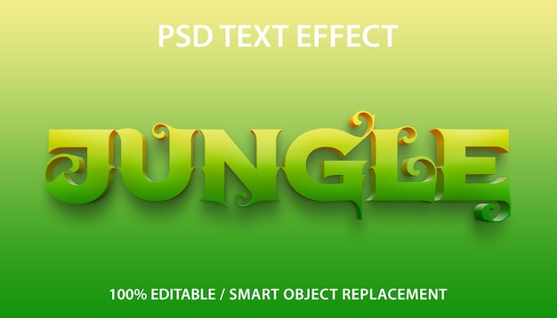 Modello giungla effetto testo