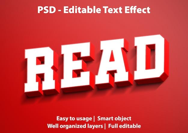 Modello di lettura effetto testo