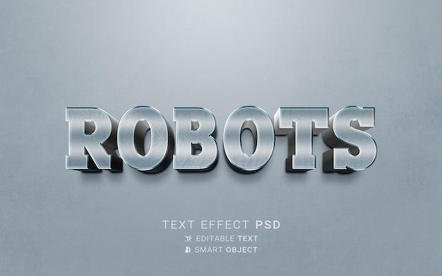 Design del robot effetto testo