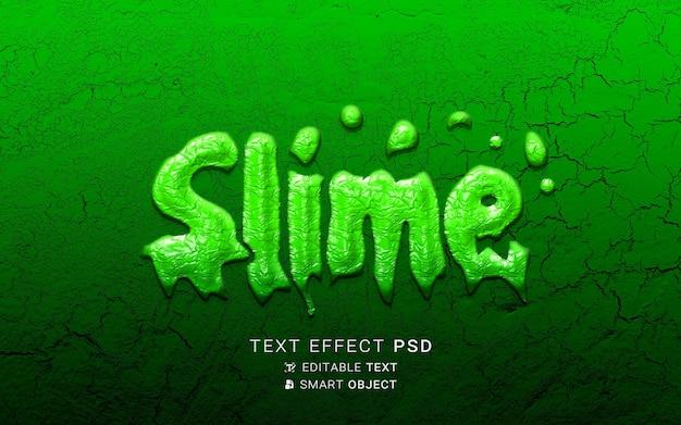 Design slime effetto testo