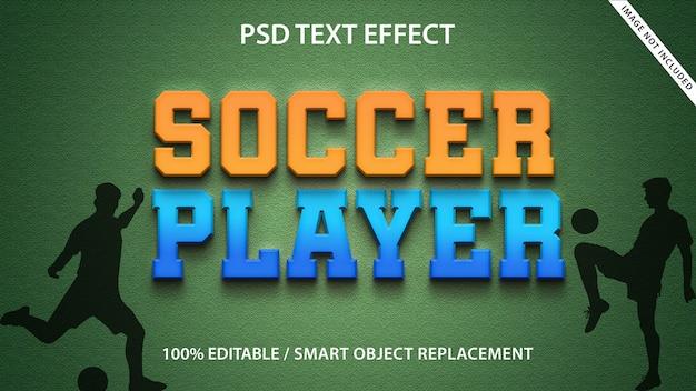 Modello di giocatore di calcio effetto testo