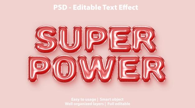 Modello super power effetto testo