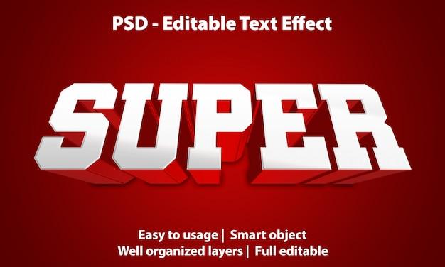 Super modello di effetto testo